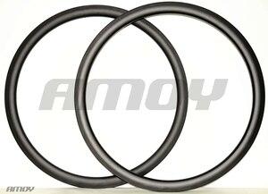 Image 5 - 38 milímetros Clincher U forma assimétrica disco estrada aro de carbono 700c roda cyclocross