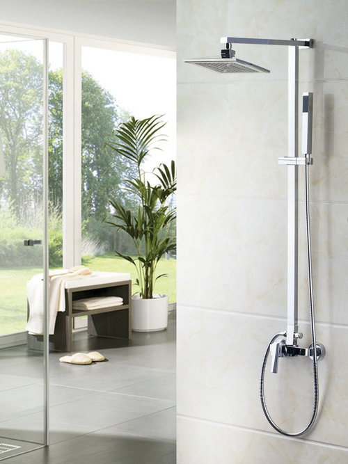Bathroom MONITE Wall Mount Shower Set Torneira Best Sales 8 Shower Head Rainfall 52004 Bathtub Chrome