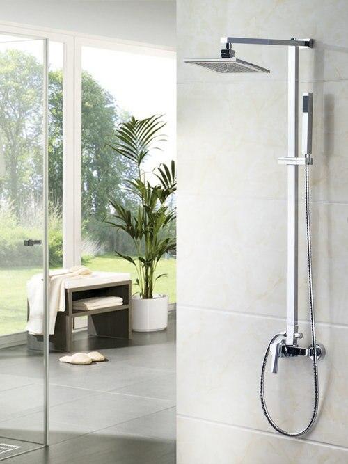 ᓂBathroom Wall Mount Shower Set Best Sales 8 Shower Head Rainfall ...