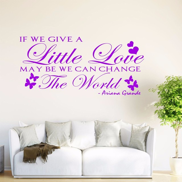 Butterflies Quote Wall Sticker If You Give A Little Love Life