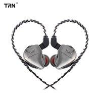 TRN IM1 Earphone Monitor Running Sport 1BA+1DD Hybrid In Ear Earphone HIFI Headset Detachable 2Pin Cable Earphone TRN V20/V60