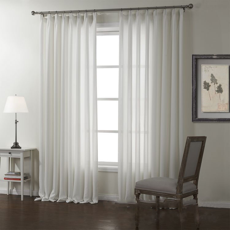 translucent white linen roman blinds living room curtains