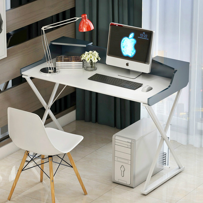 Simple computer desktop household table paint modern computer desk 250616 computer desk and desk style modern simple desk with bookcase desk simple table solder edge e1 grade sheet material
