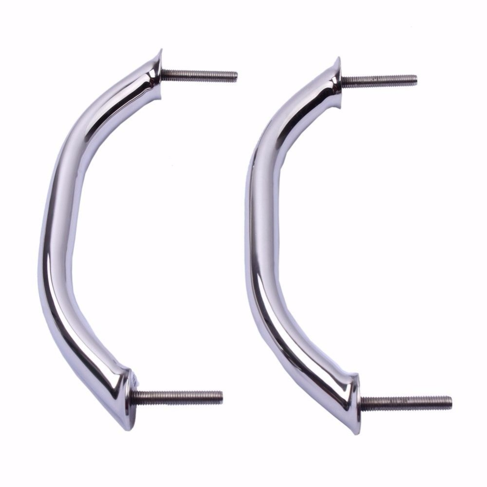 2Pcs Boat Handle Handrail 9 Inch Polished 316 Stainless Steel Grab Hardware