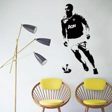 цена на Art design cheap vinyl home decoration football player Antonio Valencia wall sticker removable house decor soccer sports decals