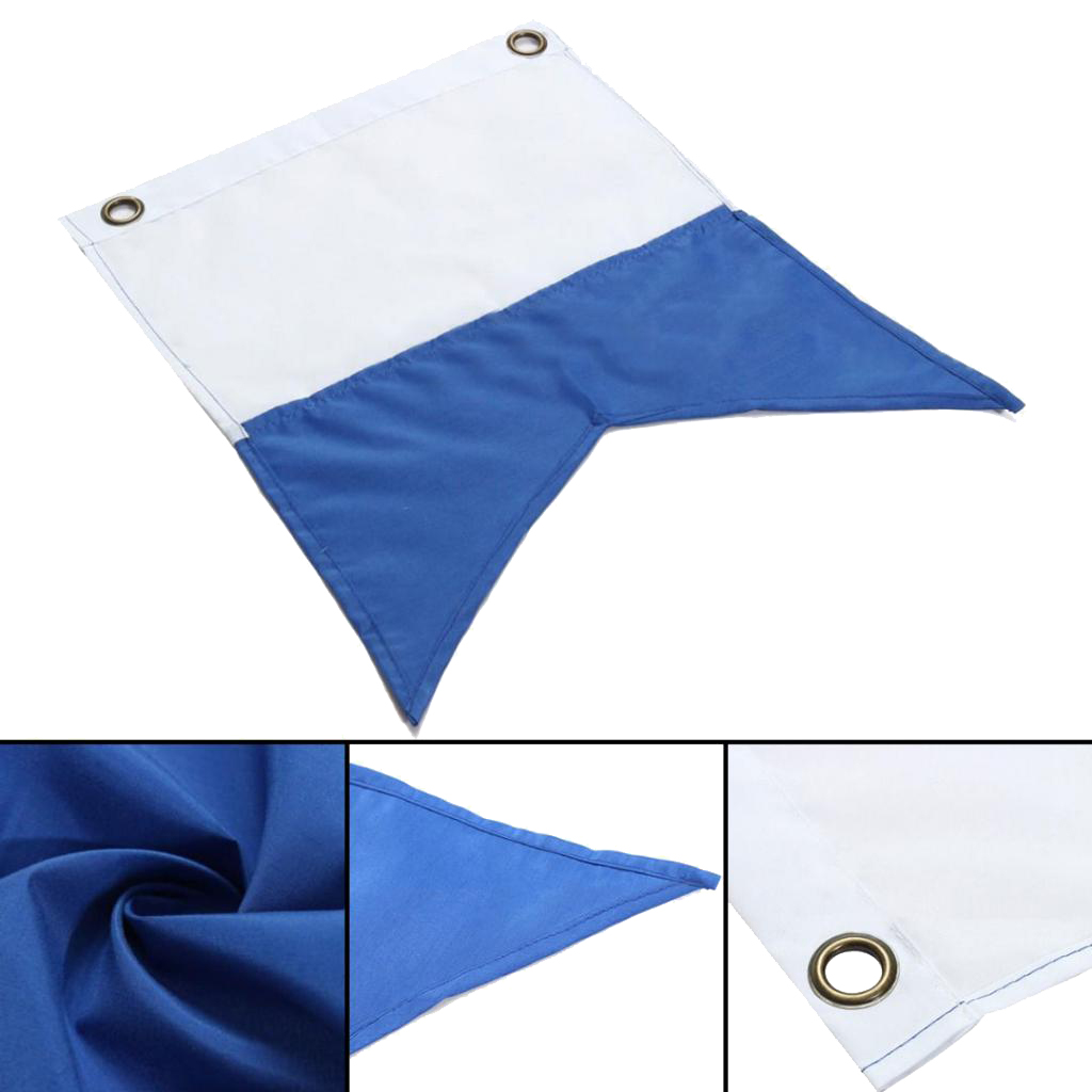 35 X 30cm Lightweight Polyester Dive Boat Alpha Flag With Metal Grommets Scuba For Water Sports Swimming Diving Accessories