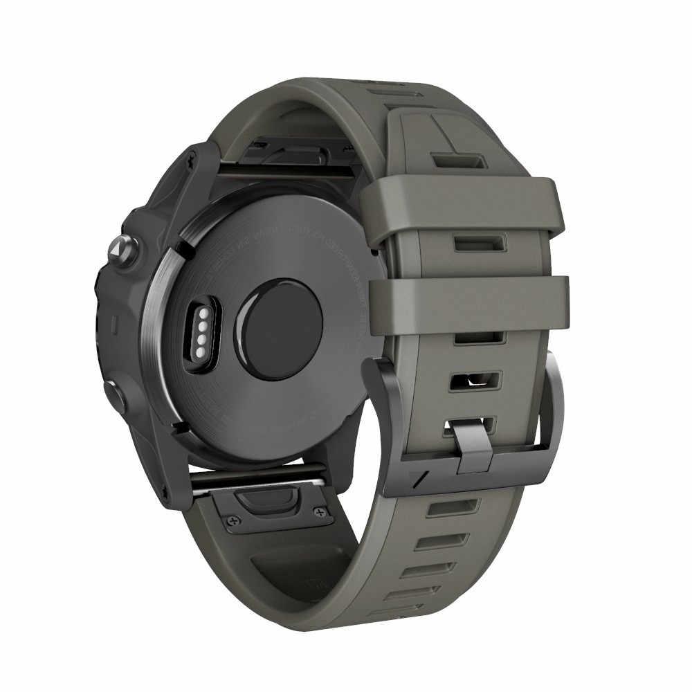 Аксессуары для умных часов Garmin Fenix 5X Plus, 26 мм силиконовый быстроразъемный удобный браслет для Garmin Fenix 5X Plus #628