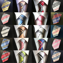 Men Tartan Check Grids Plaid Print Wide 8cm Party Wedding Necktie Tie BWTHZ0011