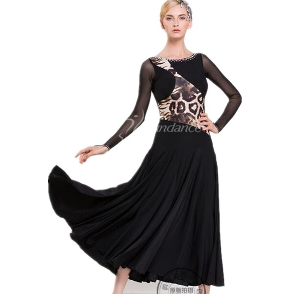57958493b New Ballroom dance costumes senior ballroom dance dress for women ballroom  dance dresses long sleeves M-1633