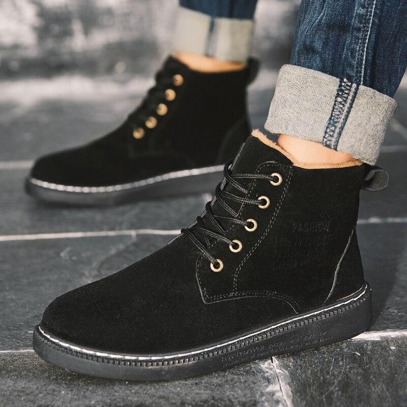 Diskret Herren Winter Stiefel High Top Booties Ankle Plüsch Warme Schuhe Für Männer Turnschuhe Casual Mode Schuhe Männlichen Botas Hombre Zapatillas