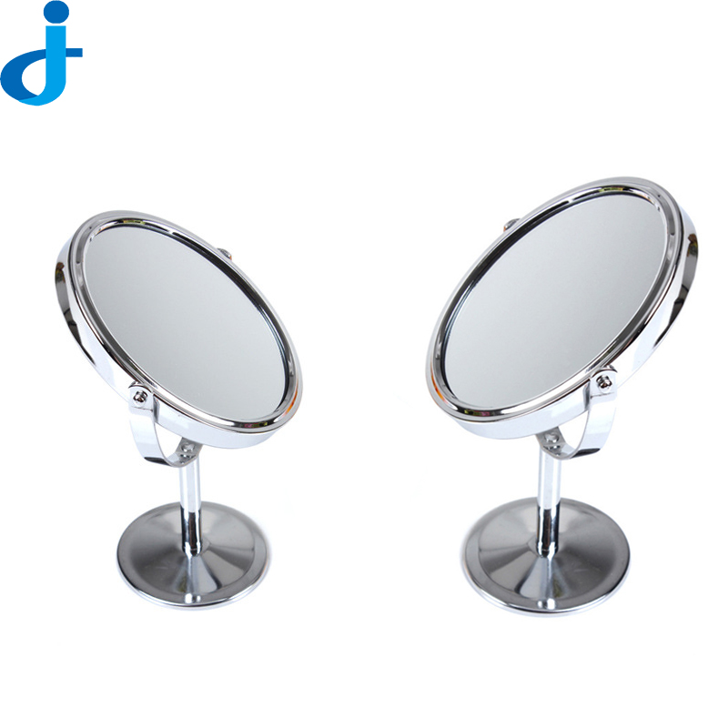 Mini mirror rotating double sided magnifying compact for Mini makeup desk