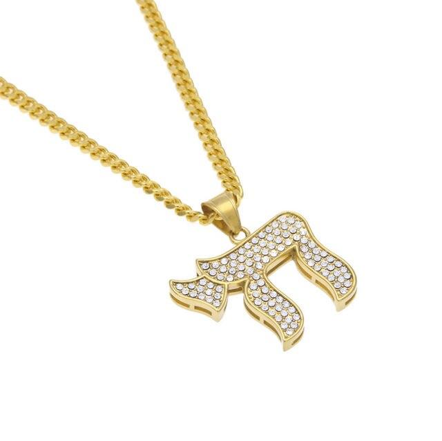 Online Shop Chai Religious Charm Gold Color Jewish Symbol Pendant