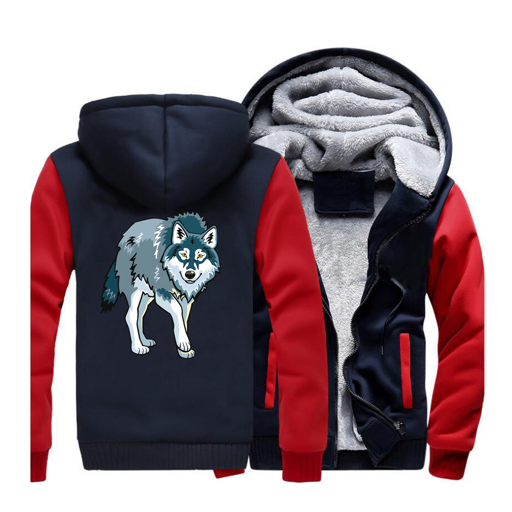 Animal Wolf Casual Mens Hoodies 2019 Spring Warm Fleece Jackets Harajuku Hooded Men Sweatshirt Hip Hop Streetwear Male Coat CM01