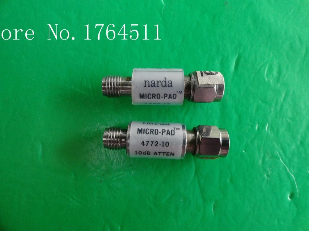 [BELLA] NARDA 4772-10 DC-6GHz 10dB 2W SMA Coaxial Fixed Attenuator  --2PCS/LOT