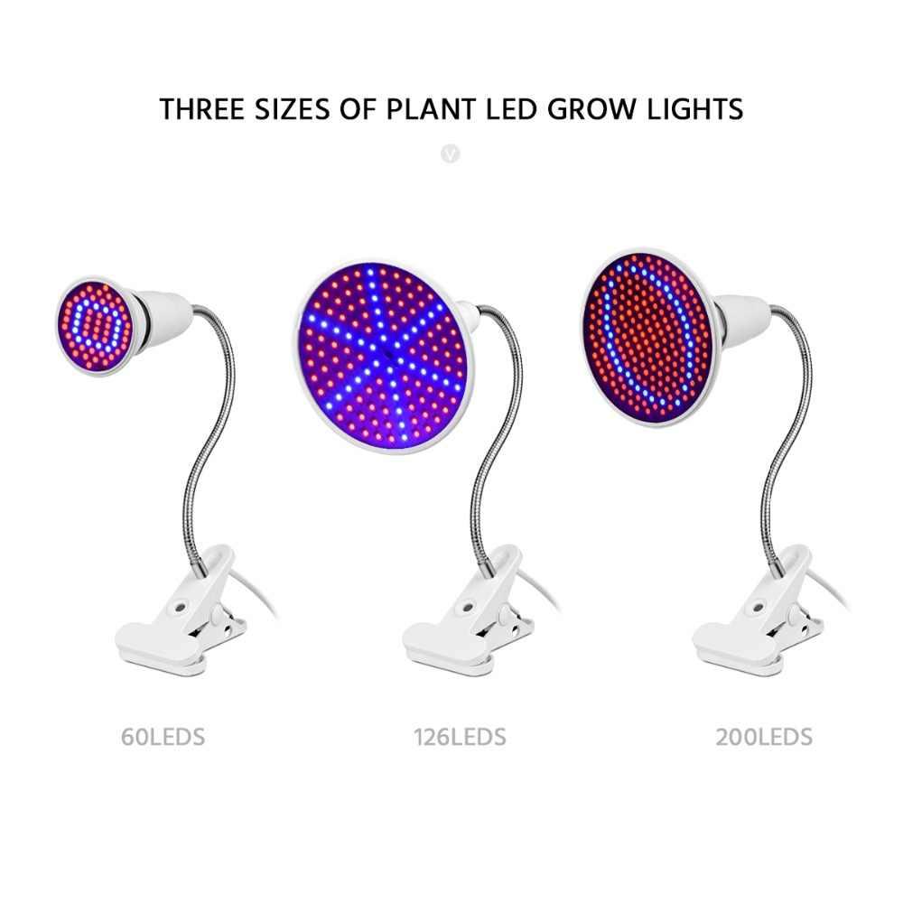 CHNAITEKE PhytoLamp LED à spectre complet lampe de culture E27 LED kits de lumière et Clip de lampe pour les plantes hydroponiques de serre végétale