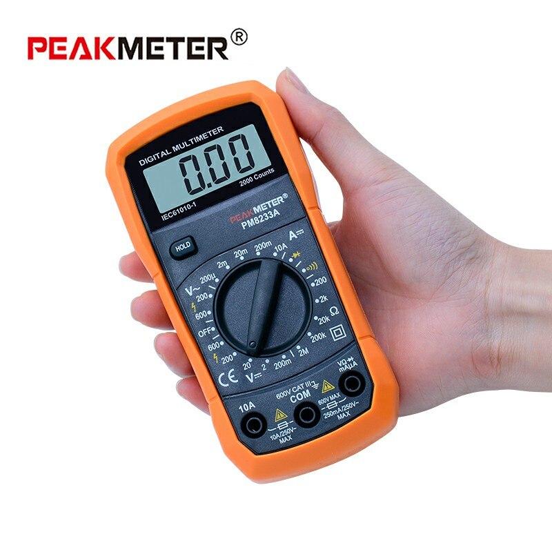 Numérique Multimètre mètre AVO DC AC Tension Courant Résistance temperatureTester Avec induction test stylo PEAKMETER MS8233 série