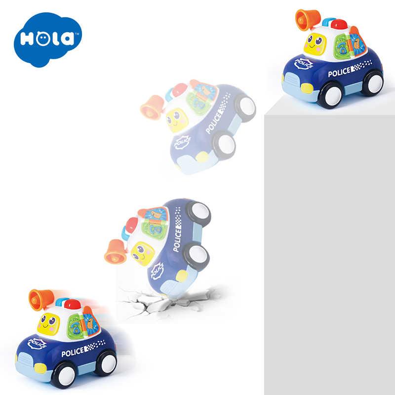 Hola 6108 Mainan Bayi Mainan Mobil dengan Musik & Lampu Helikopter Polisi Taksi Ambulans Anak Hadiah