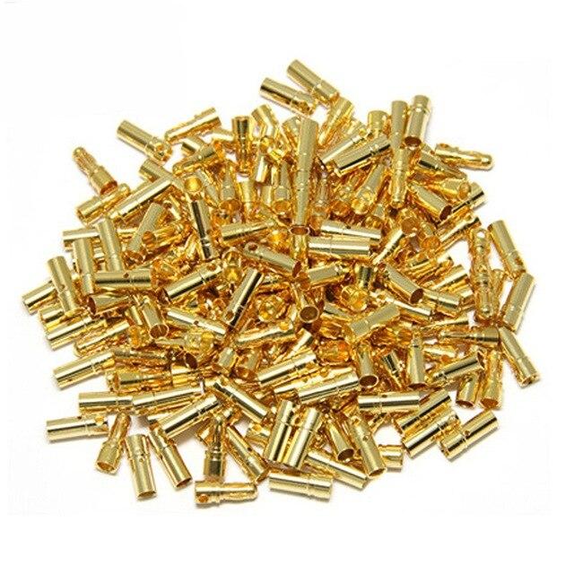 10 пар (= 20 шт./лот) разъем типа «банан» с золотым покрытием 3,5 мм для двигателя аккумулятора ESC
