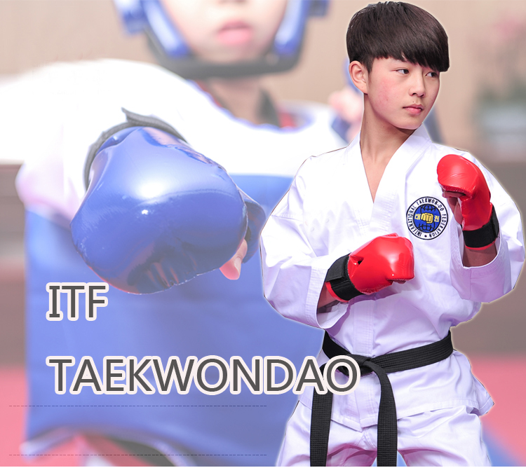 High quality White Taekwondo Dobok Professional ITF Taekwondo Uniform 55% Cotton Embroidery Taekwondo Suit karate clothing itf full embroidery taekwondo clothing standard plain 1 3 dan assistant instructor doboks 4 6 dan instructor uniforms wholesale