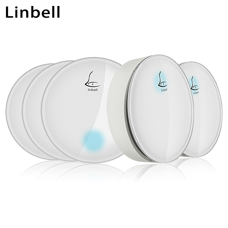 Linbell G3 long range wireless doorbell 300m no battery smart remote door bell kit home 2 buttons 3 receivers with EU/US/UK plug cacazi waterproof cover wireless doorbell ring 300m remote eu au uk us plug home smart door bell 110v 220v 2 button 3 receivers page 7