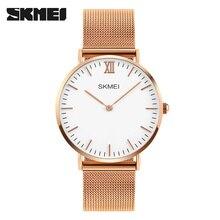 Men's Watches SKMEI Top Brand Luxury 30M Waterproof Ultra Thin Clock Male Steel Strap Casual Quartz Watch Men Sports Wrist Watch