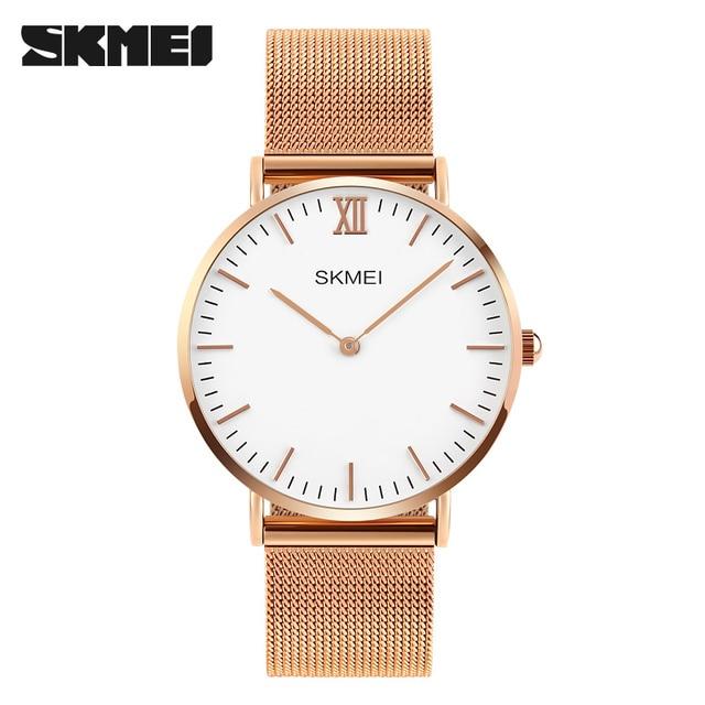 204a682904f8 SKMEI Relojes de Primeras Marcas de Lujo de los hombres 30 M Impermeable  Ultra Thin reloj