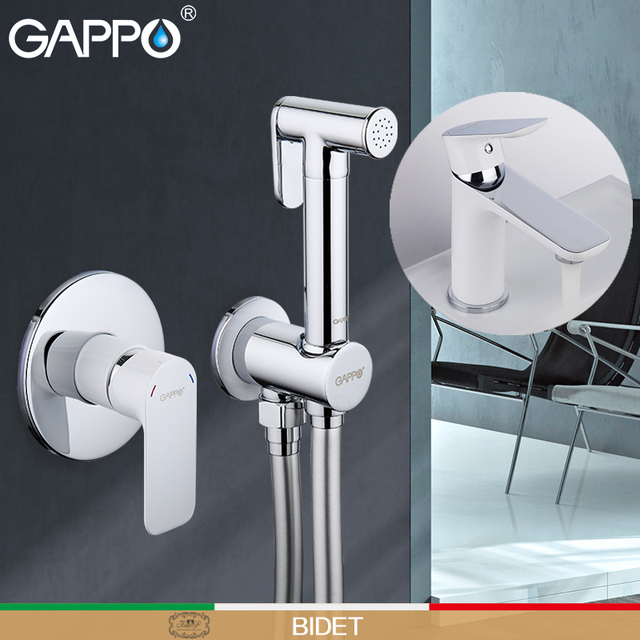 Go Bidets Bathroom Toilet Water Muslim Shower Bidet Mixer Sprayer Wall Mounted Spray