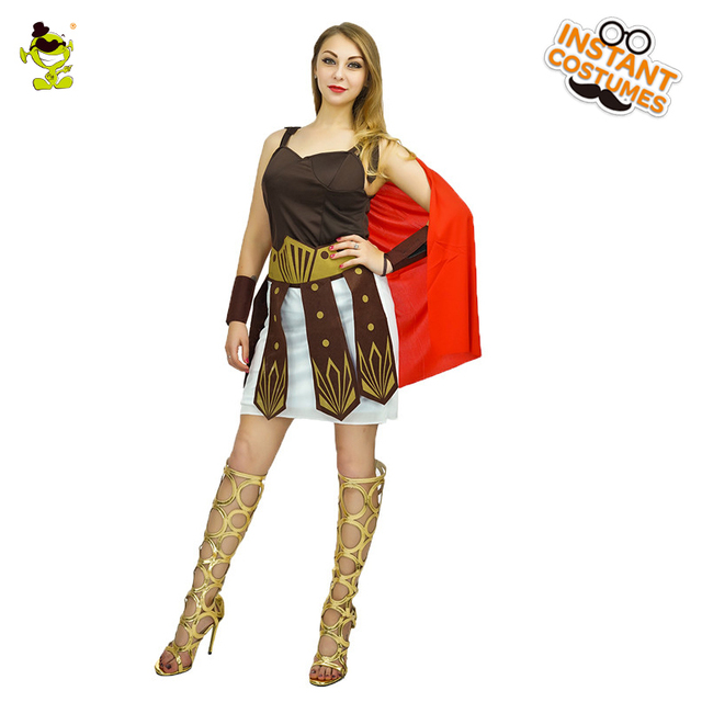 Sexy Warrior Costumes Carnival Party Women Gorgeous Roman Soldier Cosplay Dress with Red Cape Adult Female  sc 1 st  AliExpress.com & Sexy Warrior Costumes Carnival Party Women Gorgeous Roman Soldier ...