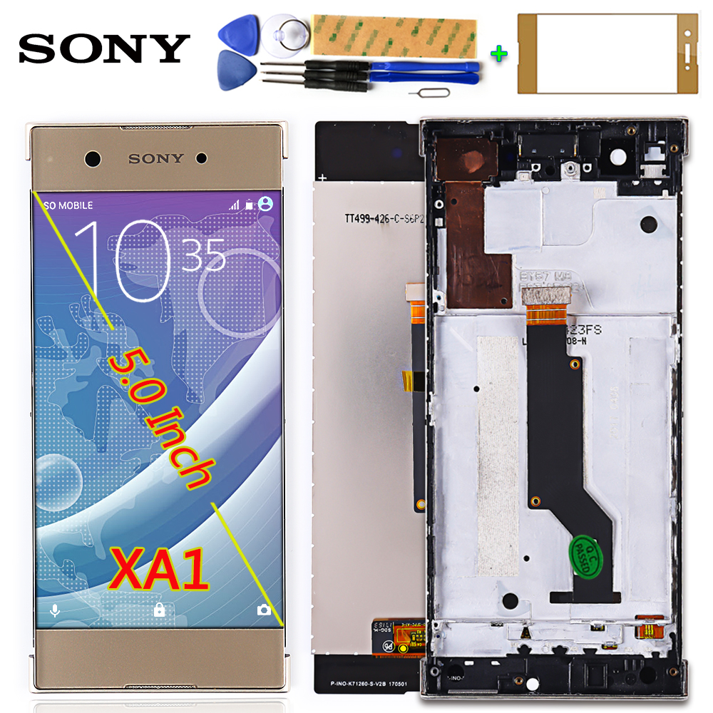 SONY Xperia XA1 XA 1 G3116 G3121 G3123 G3125 G3112 5.0 inch LCD Display Digitizer Assembly Touch screen Frame with Free Tools