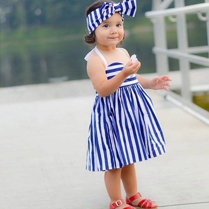 14cf8639ad89 American Baby Dresses Girl Birthday Party clothes Brand Cotton Plaid ...