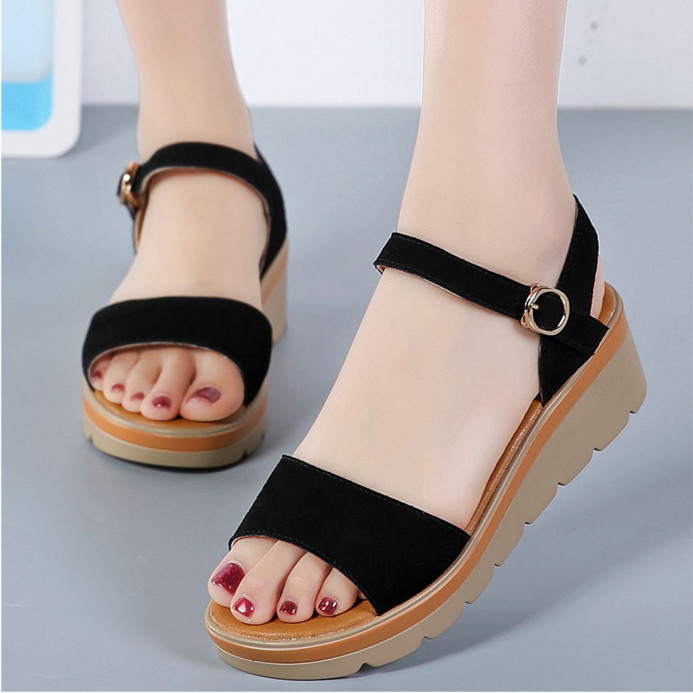 Women Summer Sandals Gladiator Platform Buckle Strap Creepers 6cm High Heel Wedges Beach Shoes Ladies Casual Shoes Sandalias phyanic crystal shoes woman 2017 bling gladiator sandals casual creepers slip on flats beach platform women shoes phy4041