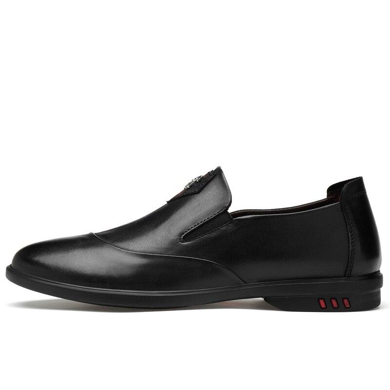 En Taille black Black eyuwen Chaussures Semelle Véritable Grande Décontractées Mocassins Pour Léger Respirants Cuir on Slip Caoutchouc guangmian Hommes qgTEUUd