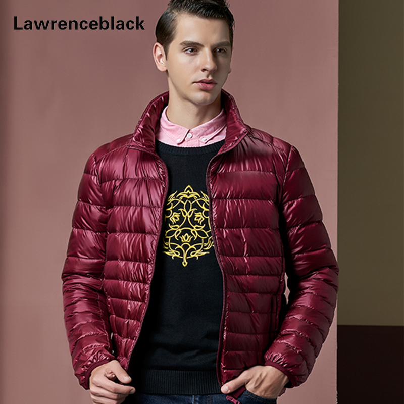 ФОТО New Duck Jacket Men Warter Proof Ultralight Feather Jackets Men Down-Fill Puffer Jacket Super Warm Slim Fit Quilted Jackets 92