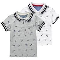 Summer Fashion Style Kids Baby Boys Cotton Striped Polo Shirt Short Sleeve Top Quality Kids Boy
