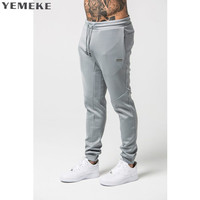 YEMEKE 2018 Men Doctor Muscle Autumn Winter Sweatpants Men S Quality Fashion Casual Life Trousers Fitness