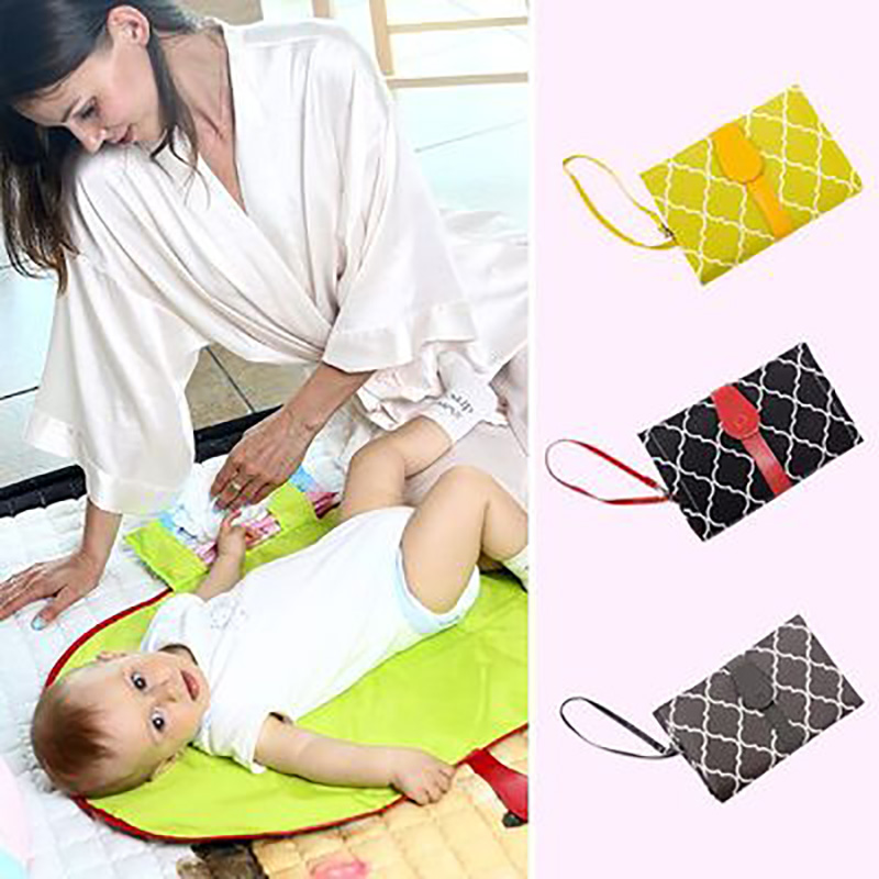 Baby Diaper Changing Mat Cover Multifunction Portable Waterproof Nappy Changing Pads Travel Clutch For Baby Care Hangs Strollers