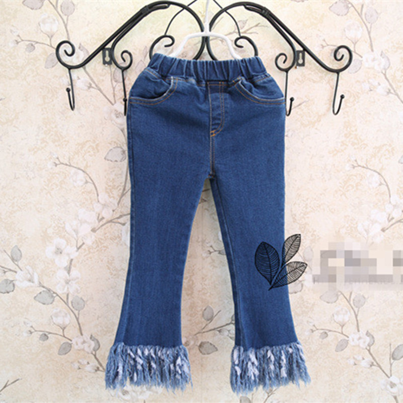 c1a667d3004 New Arrival 2016 Spring Kids Designer Brand Girls Jeans Pants Korean ...