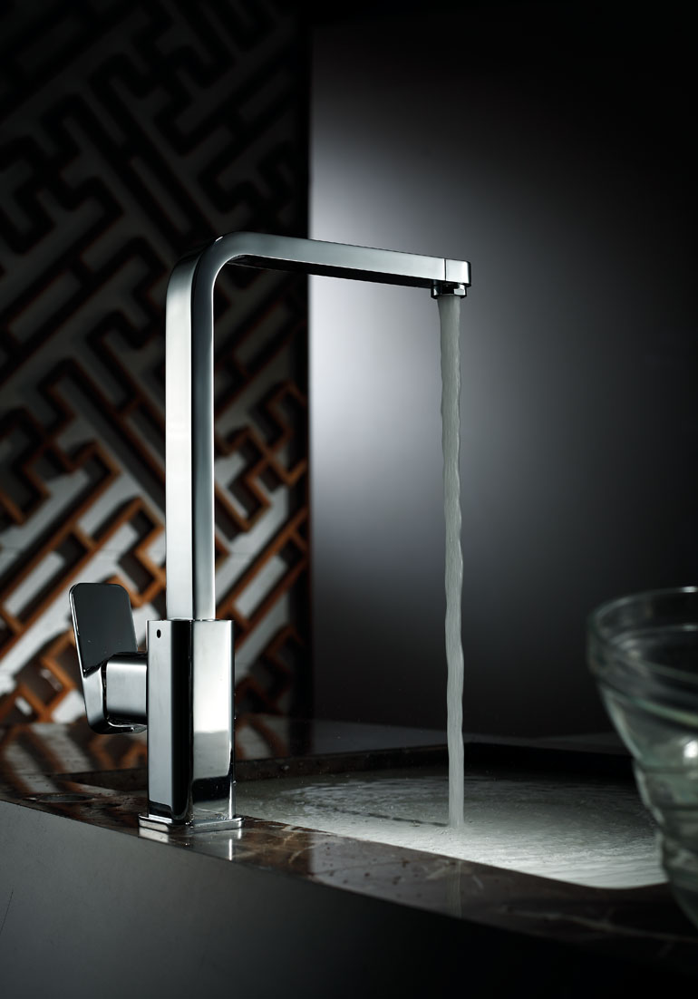Brass Kitchen Faucet Tap Sink with Spiral Spring and 360 Degree ...