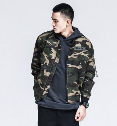 Spring Bomber Jacket Men 2017 Fashion Casual Cotton Windbreaker Coat Veste Homme Camouflage Military Jacket Plus Size 4XL 5XL