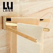Поворотный полотенцесушитель подвижные полотенцесушители для ванной комнаты вешалка для ванной комнаты креативный настенный подвесной стеллаж 3-bar