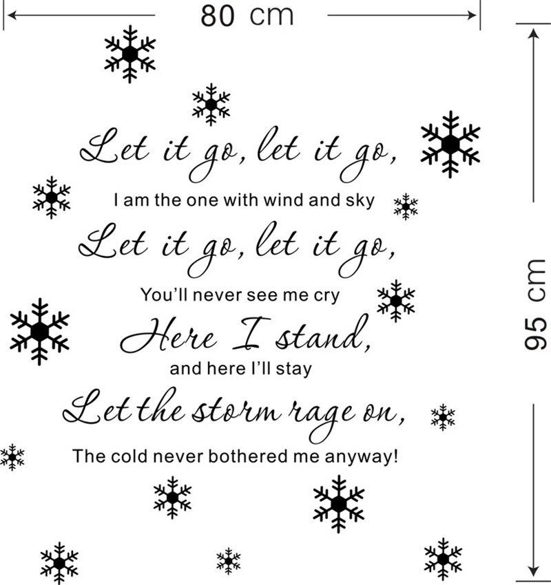 Lyric frozen let it go lyrics : Children Room Home Decor Let It Go Lyrics Frozen Elsa snowflake ...