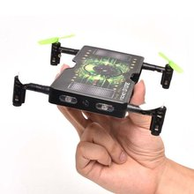 EBOYU(TM) 1325C 2.4G 4CH 4axis Folding Pocket ABS LED Mini RC Quadcopter Drone with 2.0MP HD Selfie Camera