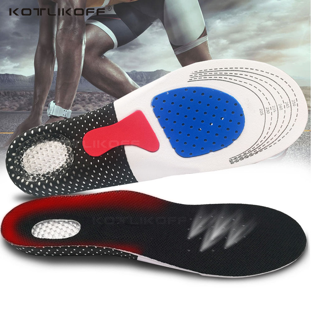 EVA Silicone Insoles Gel Shoe Pads Orthopedic Insole Deodorant Massage Shock Absorber Shoes Insoles Orthopedic Men Women