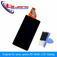 Original Noir Écran lcd Pour Sony Xperia ZR M36h C5503 C5502 Avec Écran Tactile Digitizer Assemblée Livraison Gratuite + outil