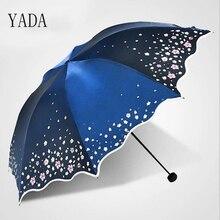 YADA Custom Charms Flowers Folding Lace Umbrella Rain Women uv High Quality For Womens Brand Windproof Umbrellas YS260