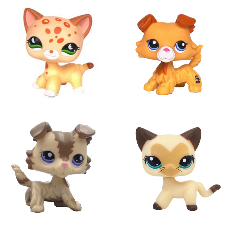 Real pet Toys Short Hair Kitty Tan Brown Spotted Leopard Cat 852 Blue Eyes Puppy Dog
