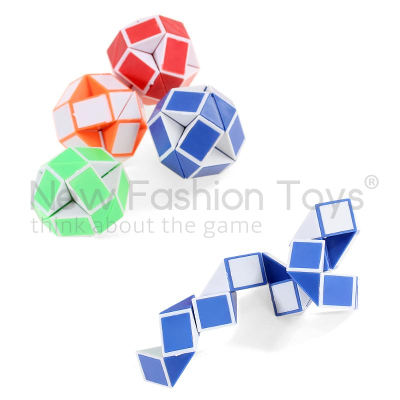 Magic Cubes Motivated Random Color Cool 24 Segments Of The Magic Snake Variety Popular Twist Kids Game Transformable Gift Puzzle Puzzles & Games