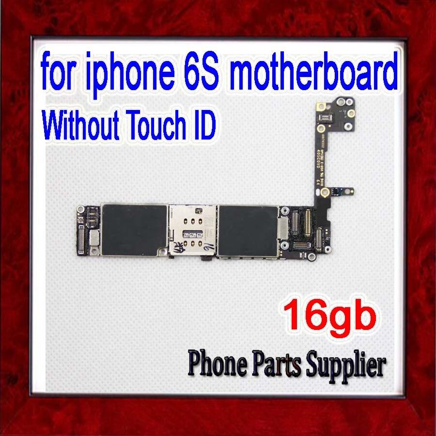 imágenes para 16 gb para el iphone 6 s Placa Base, Abierto Original para iphone 6 s Placa Base sin Touch ID, 100% prueba, Buen Trabajo, Envío Libre