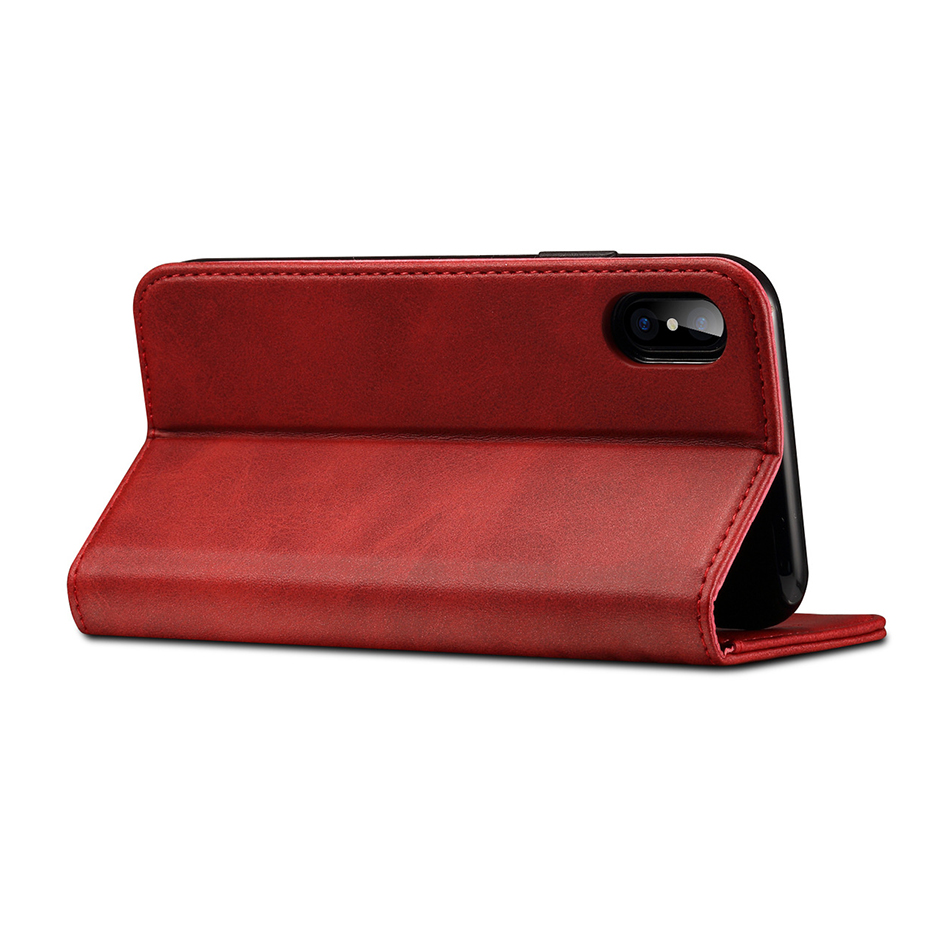 !ACCEZZ Luxury Leather Phone Case Card Pocket Full Protective Cover For iphone X XS MAX XR Wallet Flip Cases Shell Stand Holder (7)