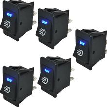 5 шт 12В 35А кнопочный переключатель вкл ВЫКЛ 4 pin p Синий